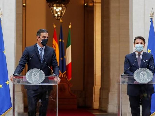 """Incontro Conte-Sanchez: """"I cittadini non possono più aspettare, il Recovery fund parta subito"""""""