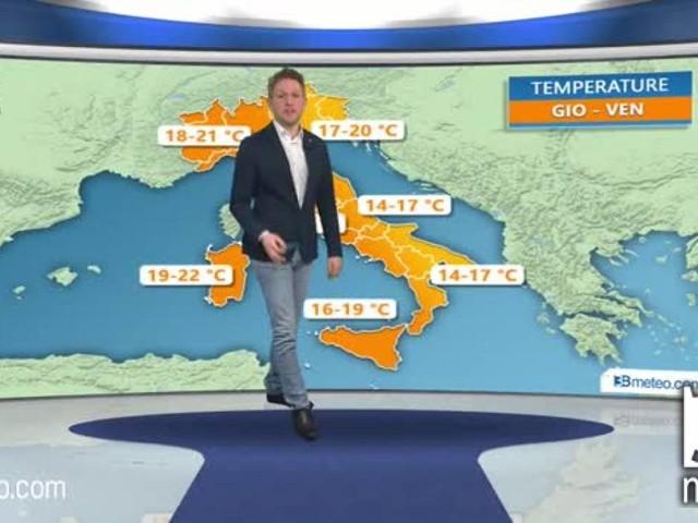 METEO Italia - da giovedì ALTA PRESSIONE, punte superiori a 20°C