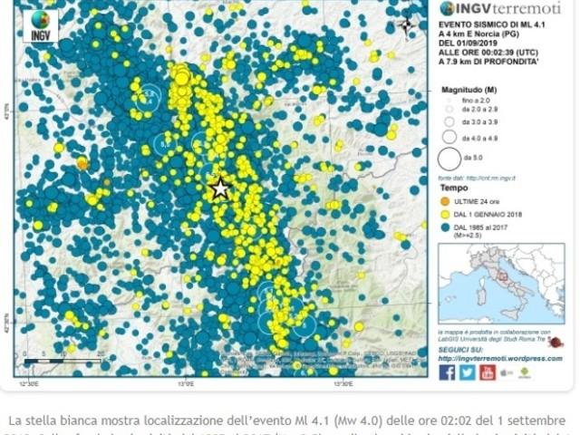 Un altro terremoto nell'area del centro Italia: dal 2016 l'Ingv ha contato 110.800 scosse