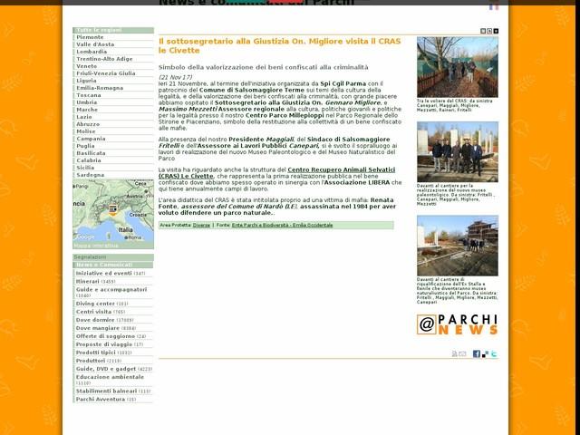 Ente Parchi e Biodiversità - Emilia Occidentale - Il sottosegretario alla Giustizia On. Migliore visita il CRAS le Civette