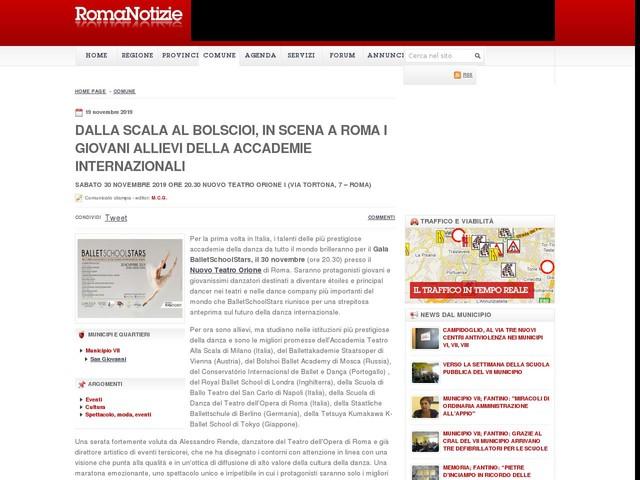 Dalla Scala al Bolscioi, in scena a Roma i giovani allievi della Accademie internazionali