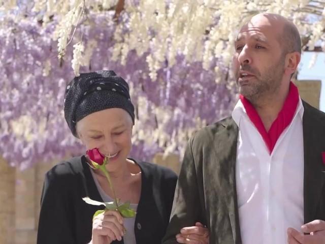 """Helen Mirren sulle polemiche per il video con Checco Zalone: """"Uomo elegante e geniale"""""""
