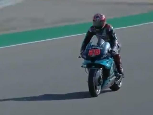 MotoGP qualifiche Aragon: pole di Quartararo davanti a Viñales