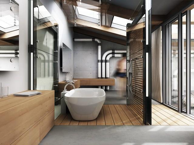 Come arredare un bagno in stile industriale