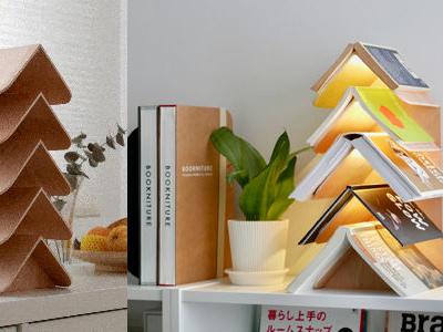 Wisdom Tree, portalibri e lampada insieme
