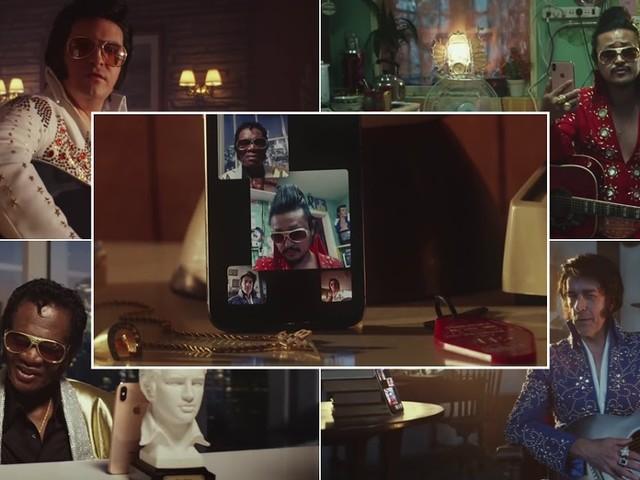Spot Apple Facetime videochiamate di gruppo con sosia Elvis Presley - Titolo canzone