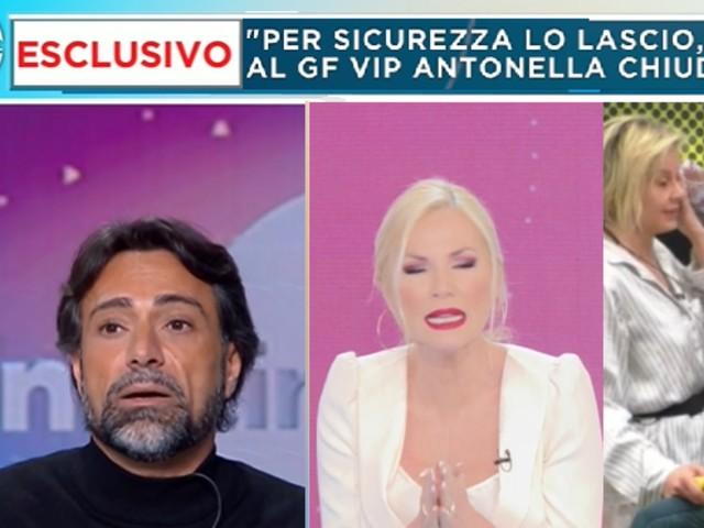 """Pietro Delle Piane sulla rottura annunciata da Antonella Elia: """"Non ci lasceremo in tv"""""""