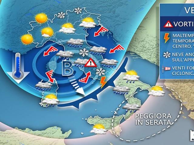 Avviso meteo per Romagna, Marche e Abruzzo: FORTE MALTEMPO in arrivo con BURRASCHE DI VENTO e TRACOLLO TERMICO