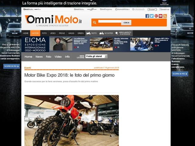Motor Bike Expo 2018: le foto del primo giorno
