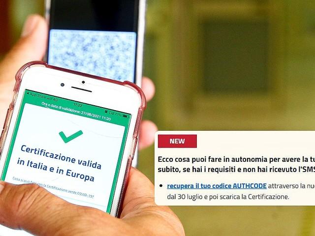 Ecco come ottenere il green pass se non hai ricevuto l'sms o la mail (o hai perso il codice)