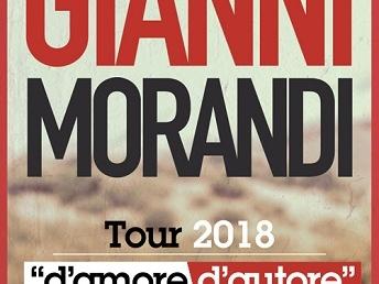 """Gianni Morandi: due nuove date del Tour 2018 """"D'Amore d'autore"""""""
