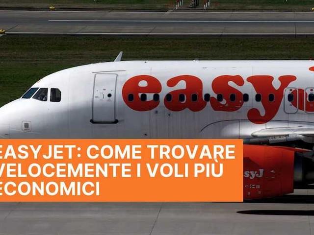 Come trovare voli low cost easyJet