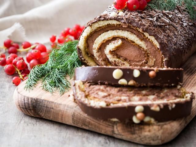 Tronchetto Di Natale Leggero.Tronchetto Di Natale Con Crema Di Castagne La Ricetta Del Dolce