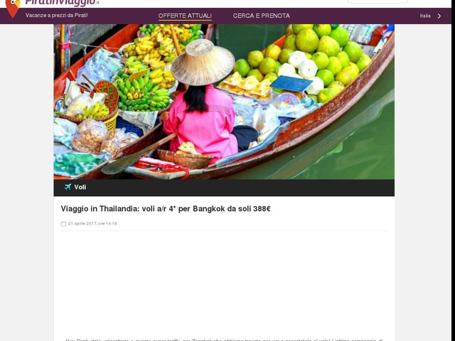 Viaggio in Thailandia: voli a/r 4* per Bangkok da soli 388€