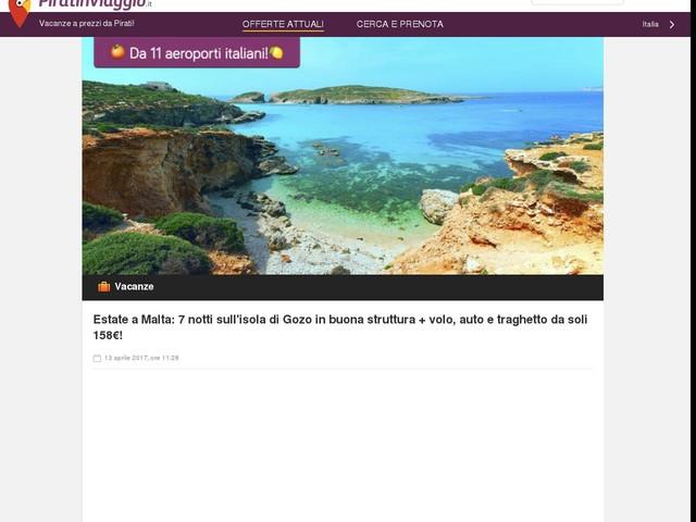 Estate a Malta: 7 notti sull'isola di Gozo in buona struttura + volo, auto e traghetto da soli 158€!