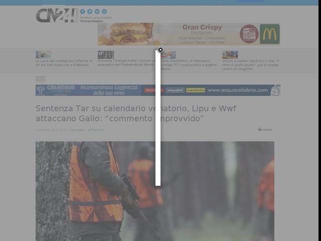 """Sentenza Tar su calendario venatorio, Lipu e Wwf attaccano Gallo: """"commento improvvido"""""""