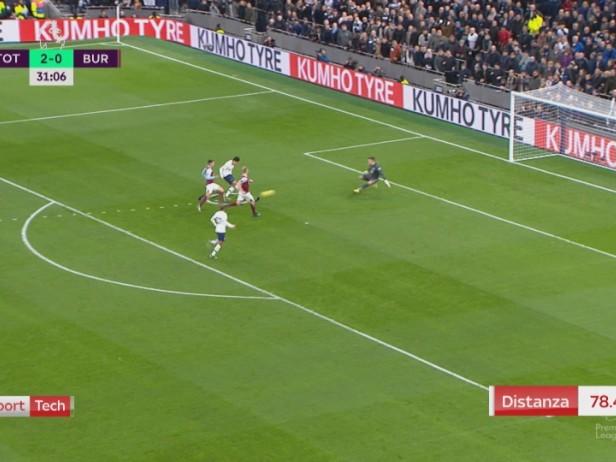 Son, gol in Tottenham-Burnley dopo 78 metri palla al piede. VIDEO