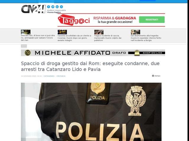 Spaccio di droga gestito dai Rom: eseguite condanne, due arresti tra Catanzaro Lido e Pavia