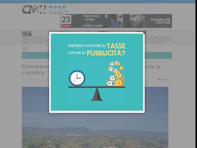 Ecosistema urbano, Cosenza al 14 posto. Vibo chiude la classifica