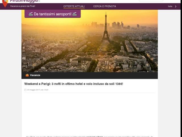 Weekend a Parigi: 3 notti in ottimo hotel e volo incluso da soli 136€!