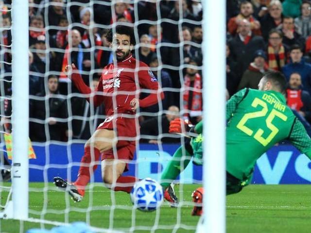Liverpool-Napoli 1-0, magia di SalahAncelotti fuori dalla Champions