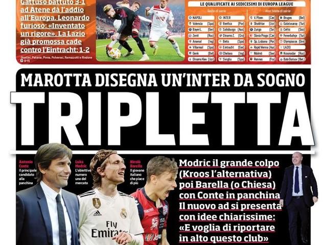 Corriere dello Sport – Tripletta