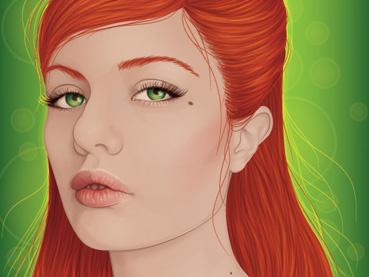 Create a Backlit, Elegant Female Portrait in Illustrator