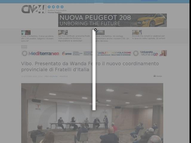 Vibo. Presentato da Wanda Ferro il nuovo coordinamento provinciale di Fratelli d'Italia