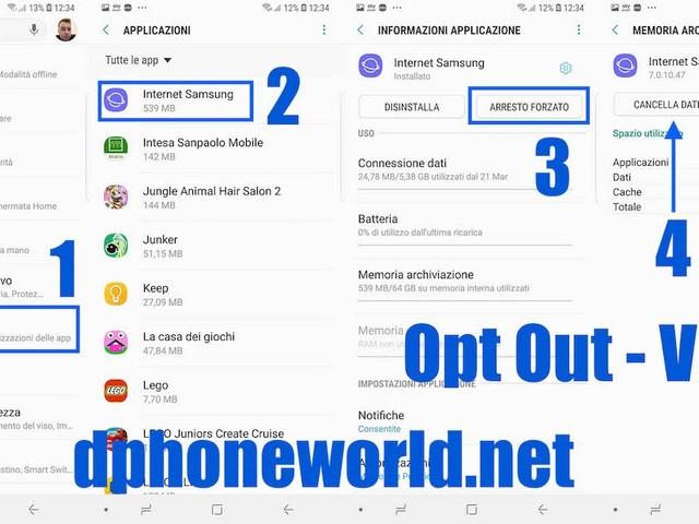 Annunci Opt-Out, un Virus di Android? Come rimuovere e pulire il browser