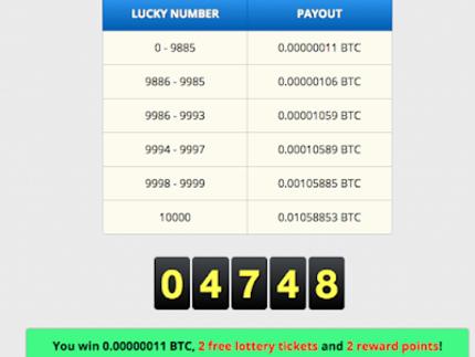 Come Guadagnare Bitcoin Gratis giocando alla Lotteria