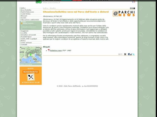 PR Aveto - Situazione/bollettino neve nel Parco dell'Aveto e dintorni
