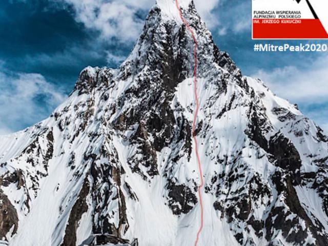 Karakorum. Polacchi verso il Mitre Peak (6025 m) a febbraio