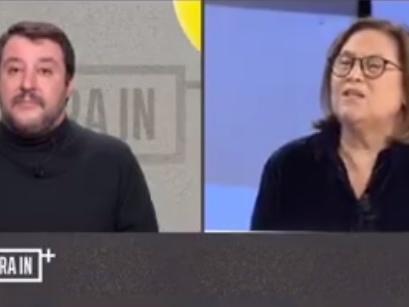 La gaffe dell'Annunziata e l'aplomb di Salvini che rimane impassibile