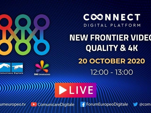 LIVE   New Frontier Video Quality e 4K Tech Talk. Diretta streaming Digital-News.it