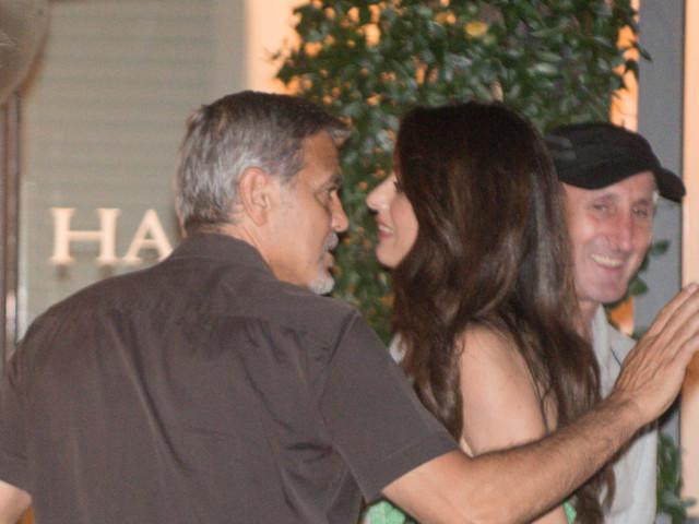 George Clooney e Amal Alamuddin, romantici a Cernobbio