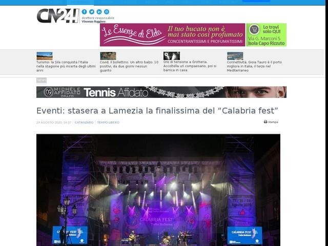 """Eventi: stasera a Lamezia la finalissima del """"Calabria fest"""""""