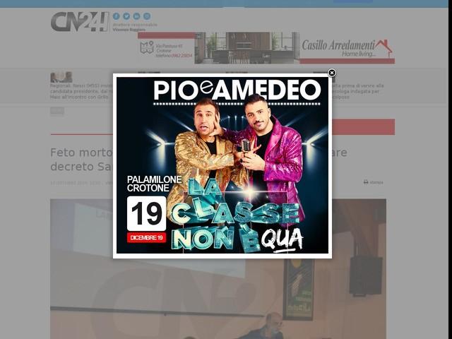 """Feto morto a Vibo, Siclari (FI) al ministro: """"Cambiare decreto Sanità Calabria"""""""