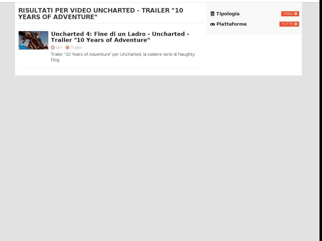 """Uncharted - Trailer """"10 Years of Adventure"""""""