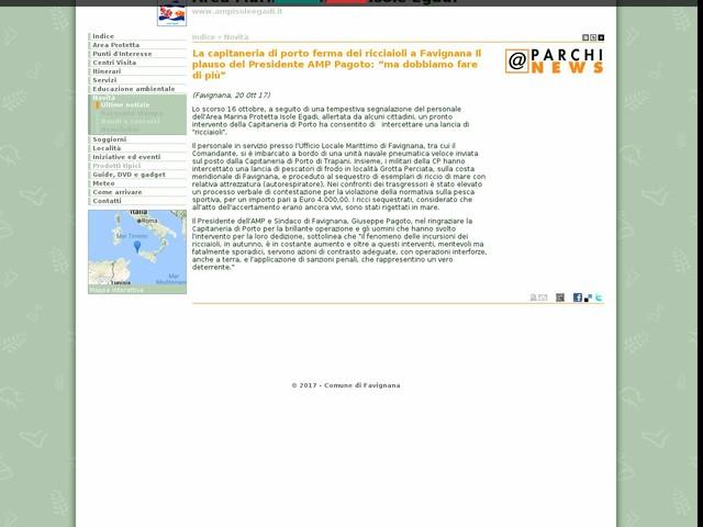"""AMP Isole Egadi - La capitaneria di porto ferma dei ricciaioli a Favignana Il plauso del Presidente AMP Pagoto: """"ma dobbiamo fare di più"""""""