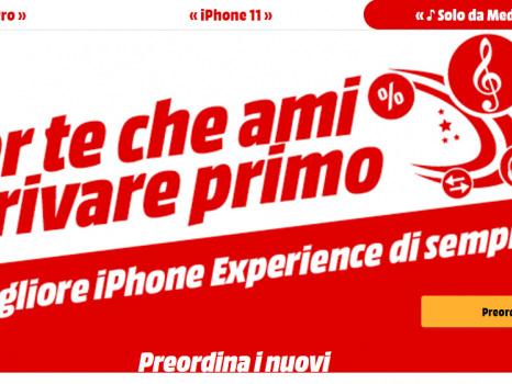 Preordine e prezzo degli iPhone 11 da Mediaworld: sconto AirPods e permuta usato