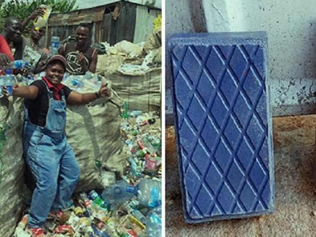 La startup dell'ingegnera kenyota che ricicla la plastica per farne mattoni