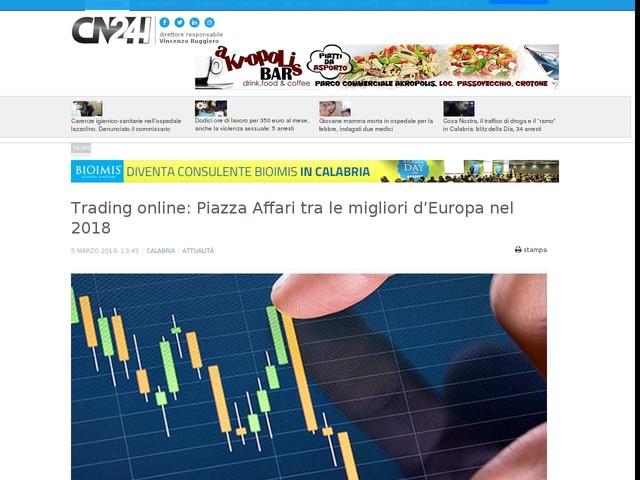 Trading online: Piazza Affari tra le migliori d'Europa nel 2018