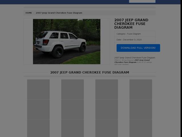 Jeep Grand Cherokee Fuse Diagram