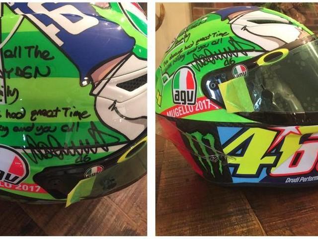 Mugello, Rossi dona il casco alla famiglia di Nicky Hayden