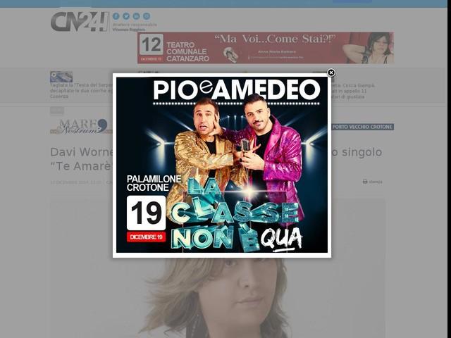 """Davi Wornel, l'artista calabrese lancia il suo nuovo singolo """"Te Amarè"""""""