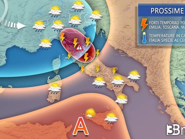 METEO ITALIA - IRROMPE l'AUTUNNO in settimana, MALTEMPO e NEVE sulle ALPI