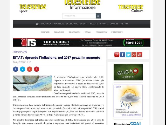 ISTAT: riprende l'inflazione, nel 2017 prezzi in aumento