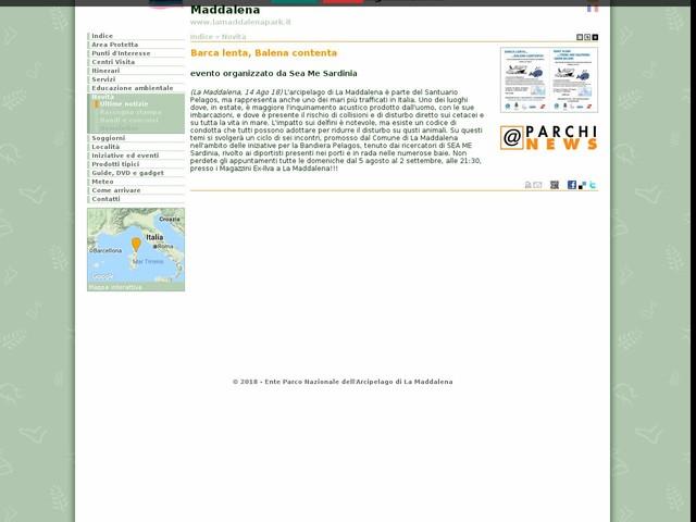 PN Arcipelago La Maddalena - Barca lenta, Balena contenta