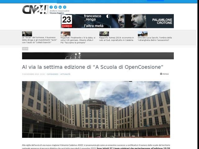 """Al via la settima edizione di """"A Scuola di OpenCoesione"""""""