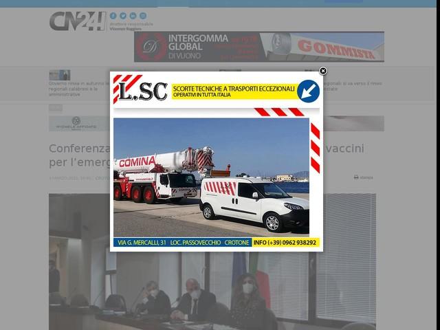 Conferenza dei sindaci a Crotone. Illustrato piano vaccini per l'emergenza coronavirus